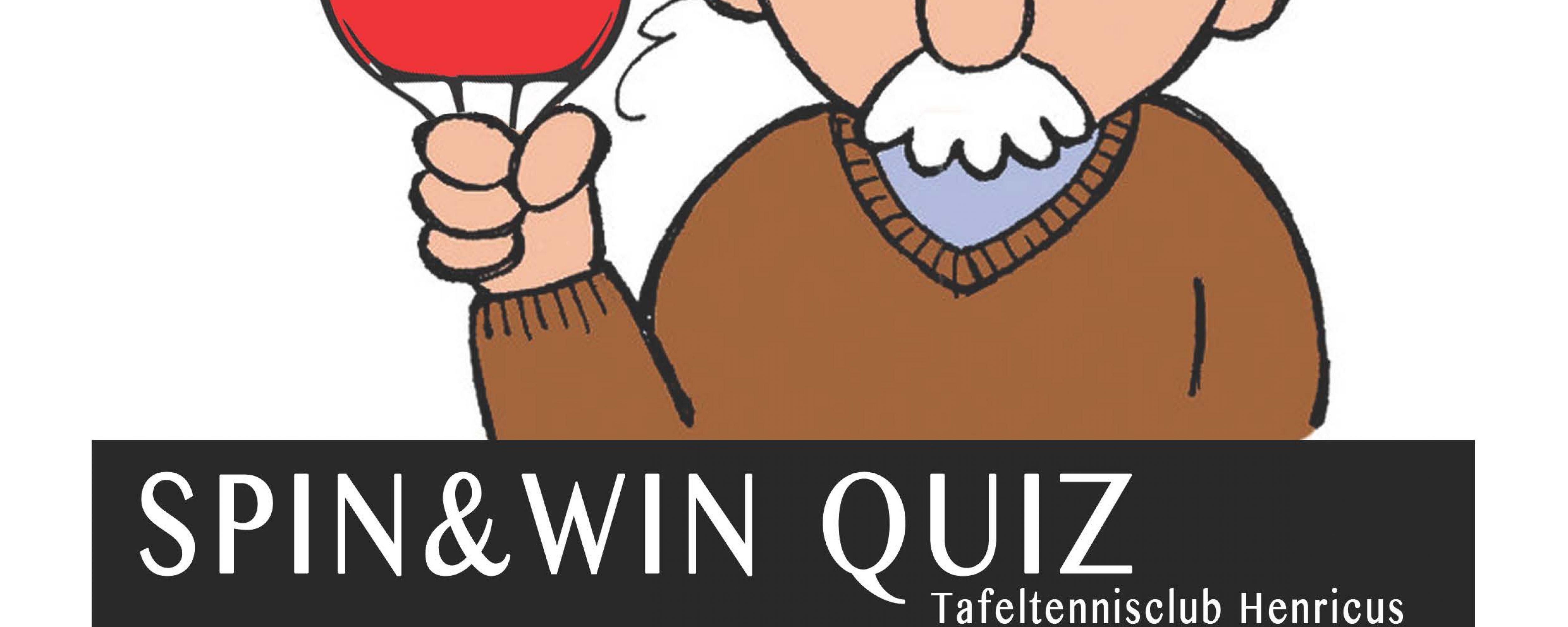 Spin & Win Quiz van TTC Henricus op zaterdag 26 Oktober 2013. Schrijf je nu in!