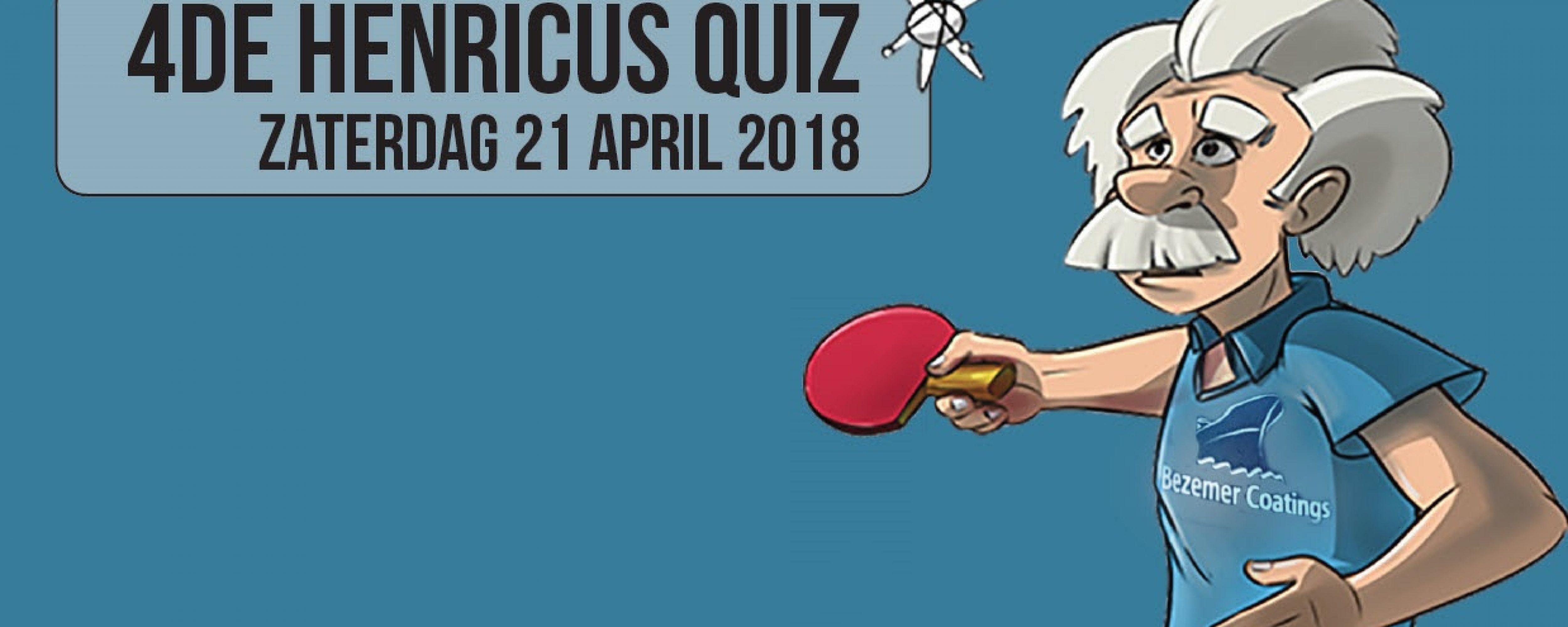 Schrijf jullie nu in voor de 4de TTC Henricus Quiz!