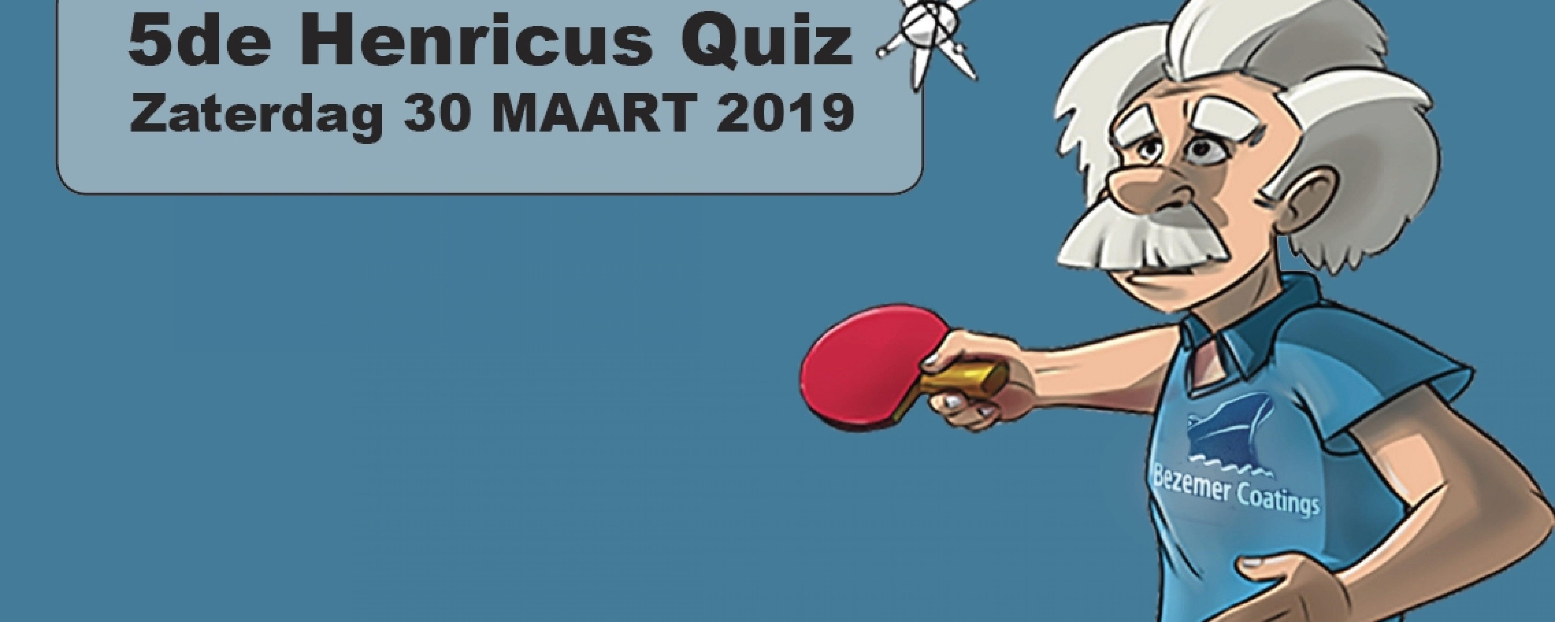 Schrijf jullie nu in voor de 5de KTTC Henricus Quiz!